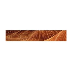 Sandstone The Wave Rock Nature Red Sand Flano Scarf (mini)