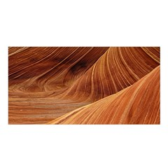 Sandstone The Wave Rock Nature Red Sand Satin Shawl