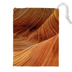 Sandstone The Wave Rock Nature Red Sand Drawstring Pouches (xxl)