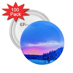 Winter Landscape Snow Forest Trees 2 25  Buttons (100 Pack)