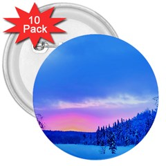 Winter Landscape Snow Forest Trees 3  Buttons (10 Pack)