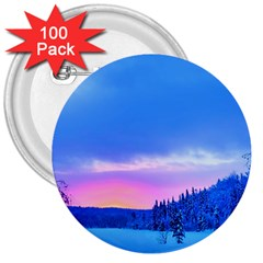 Winter Landscape Snow Forest Trees 3  Buttons (100 Pack)