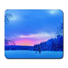Winter Landscape Snow Forest Trees Large Mousepads