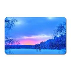 Winter Landscape Snow Forest Trees Magnet (rectangular)