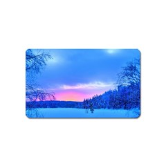 Winter Landscape Snow Forest Trees Magnet (name Card)