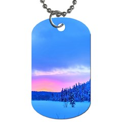 Winter Landscape Snow Forest Trees Dog Tag (one Side)