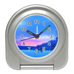Winter Landscape Snow Forest Trees Travel Alarm Clocks