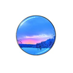 Winter Landscape Snow Forest Trees Hat Clip Ball Marker (4 Pack)