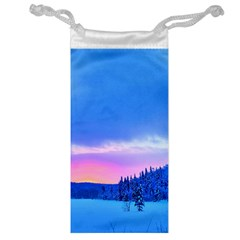 Winter Landscape Snow Forest Trees Jewelry Bag