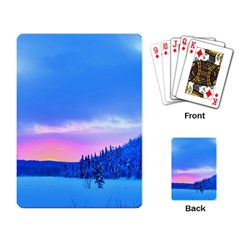 Winter Landscape Snow Forest Trees Playing Card