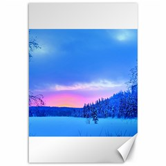 Winter Landscape Snow Forest Trees Canvas 12  X 18