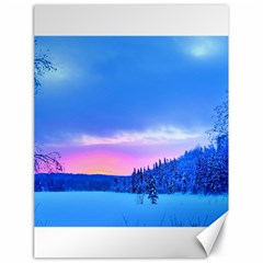 Winter Landscape Snow Forest Trees Canvas 18  X 24