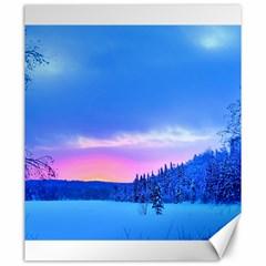 Winter Landscape Snow Forest Trees Canvas 20  X 24