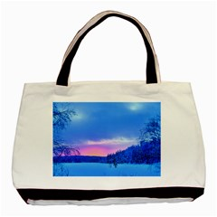 Winter Landscape Snow Forest Trees Basic Tote Bag (two Sides)