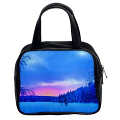 Winter Landscape Snow Forest Trees Classic Handbags (2 Sides)