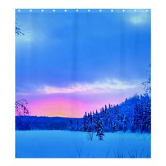 Winter Landscape Snow Forest Trees Shower Curtain 66  X 72  (large)