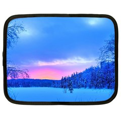 Winter Landscape Snow Forest Trees Netbook Case (xxl)