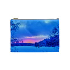 Winter Landscape Snow Forest Trees Cosmetic Bag (medium)