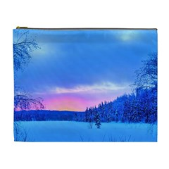 Winter Landscape Snow Forest Trees Cosmetic Bag (xl)