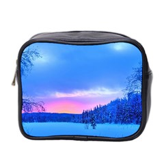 Winter Landscape Snow Forest Trees Mini Toiletries Bag 2 Side