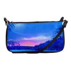 Winter Landscape Snow Forest Trees Shoulder Clutch Bags