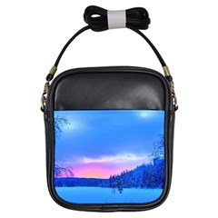 Winter Landscape Snow Forest Trees Girls Sling Bags