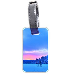 Winter Landscape Snow Forest Trees Luggage Tags (two Sides)