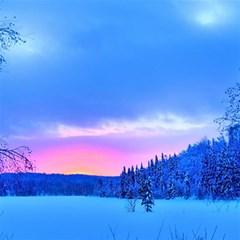 Winter Landscape Snow Forest Trees Magic Photo Cubes