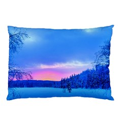 Winter Landscape Snow Forest Trees Pillow Case (two Sides)