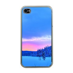 Winter Landscape Snow Forest Trees Apple Iphone 4 Case (clear)