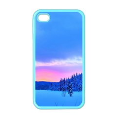 Winter Landscape Snow Forest Trees Apple Iphone 4 Case (color)