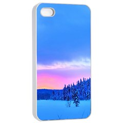 Winter Landscape Snow Forest Trees Apple Iphone 4/4s Seamless Case (white)