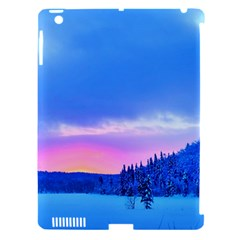 Winter Landscape Snow Forest Trees Apple Ipad 3/4 Hardshell Case (compatible With Smart Cover)
