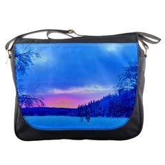 Winter Landscape Snow Forest Trees Messenger Bags