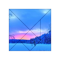 Winter Landscape Snow Forest Trees Acrylic Tangram Puzzle (4  X 4 )
