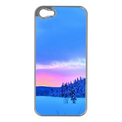 Winter Landscape Snow Forest Trees Apple Iphone 5 Case (silver)