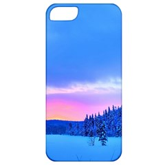 Winter Landscape Snow Forest Trees Apple Iphone 5 Classic Hardshell Case