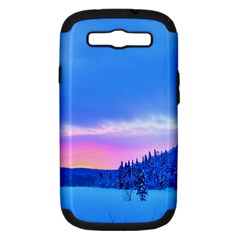 Winter Landscape Snow Forest Trees Samsung Galaxy S Iii Hardshell Case (pc+silicone)