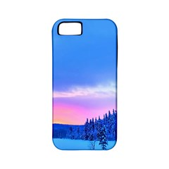 Winter Landscape Snow Forest Trees Apple Iphone 5 Classic Hardshell Case (pc+silicone)