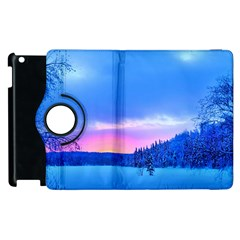 Winter Landscape Snow Forest Trees Apple Ipad 2 Flip 360 Case