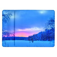 Winter Landscape Snow Forest Trees Samsung Galaxy Tab 10 1  P7500 Flip Case