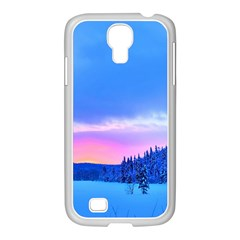 Winter Landscape Snow Forest Trees Samsung Galaxy S4 I9500/ I9505 Case (white)