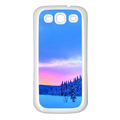 Winter Landscape Snow Forest Trees Samsung Galaxy S3 Back Case (white)