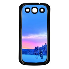 Winter Landscape Snow Forest Trees Samsung Galaxy S3 Back Case (black)