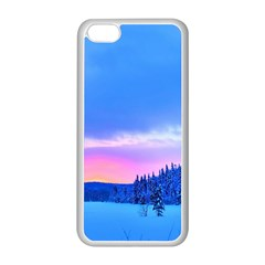 Winter Landscape Snow Forest Trees Apple Iphone 5c Seamless Case (white)