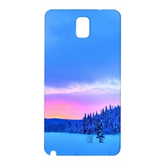 Winter Landscape Snow Forest Trees Samsung Galaxy Note 3 N9005 Hardshell Back Case