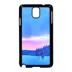 Winter Landscape Snow Forest Trees Samsung Galaxy Note 3 Neo Hardshell Case (black)
