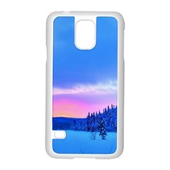 Winter Landscape Snow Forest Trees Samsung Galaxy S5 Case (white)