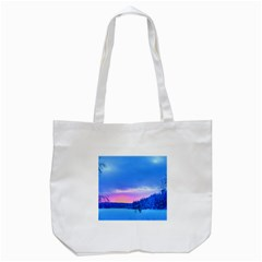Winter Landscape Snow Forest Trees Tote Bag (white)