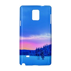 Winter Landscape Snow Forest Trees Samsung Galaxy Note 4 Hardshell Case